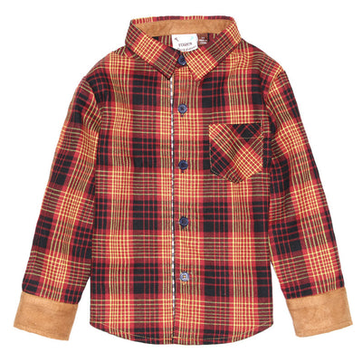 Oxford Plaid Gingham Shirt for Boys