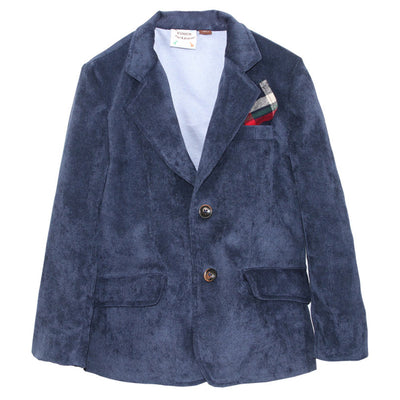 Navy Miles Suede Corduroy Sportscoat for Boys