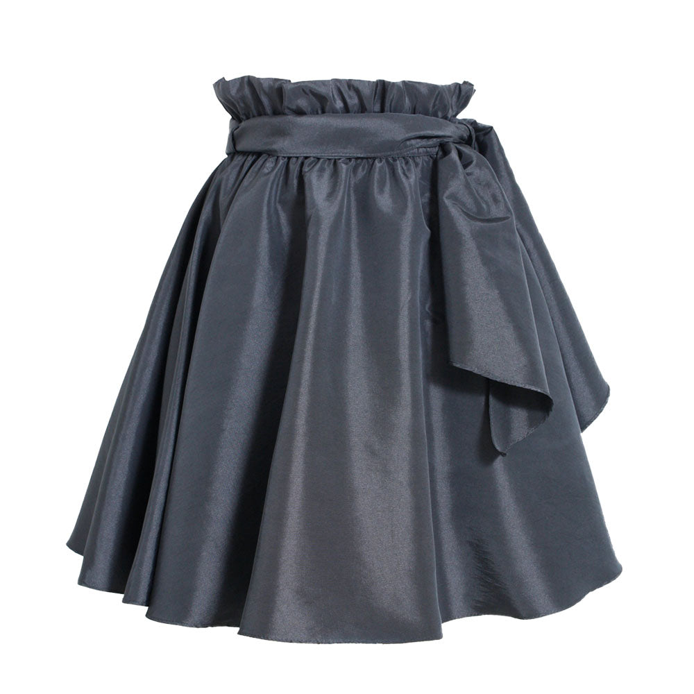 Black Paper Bag Skirt
