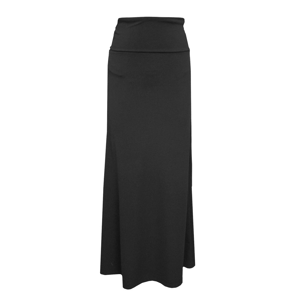 Black Long Yoga Skirt