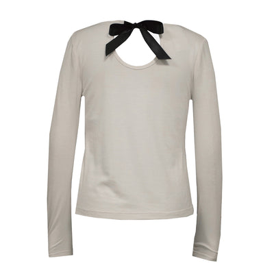 White Bow Back Shirt