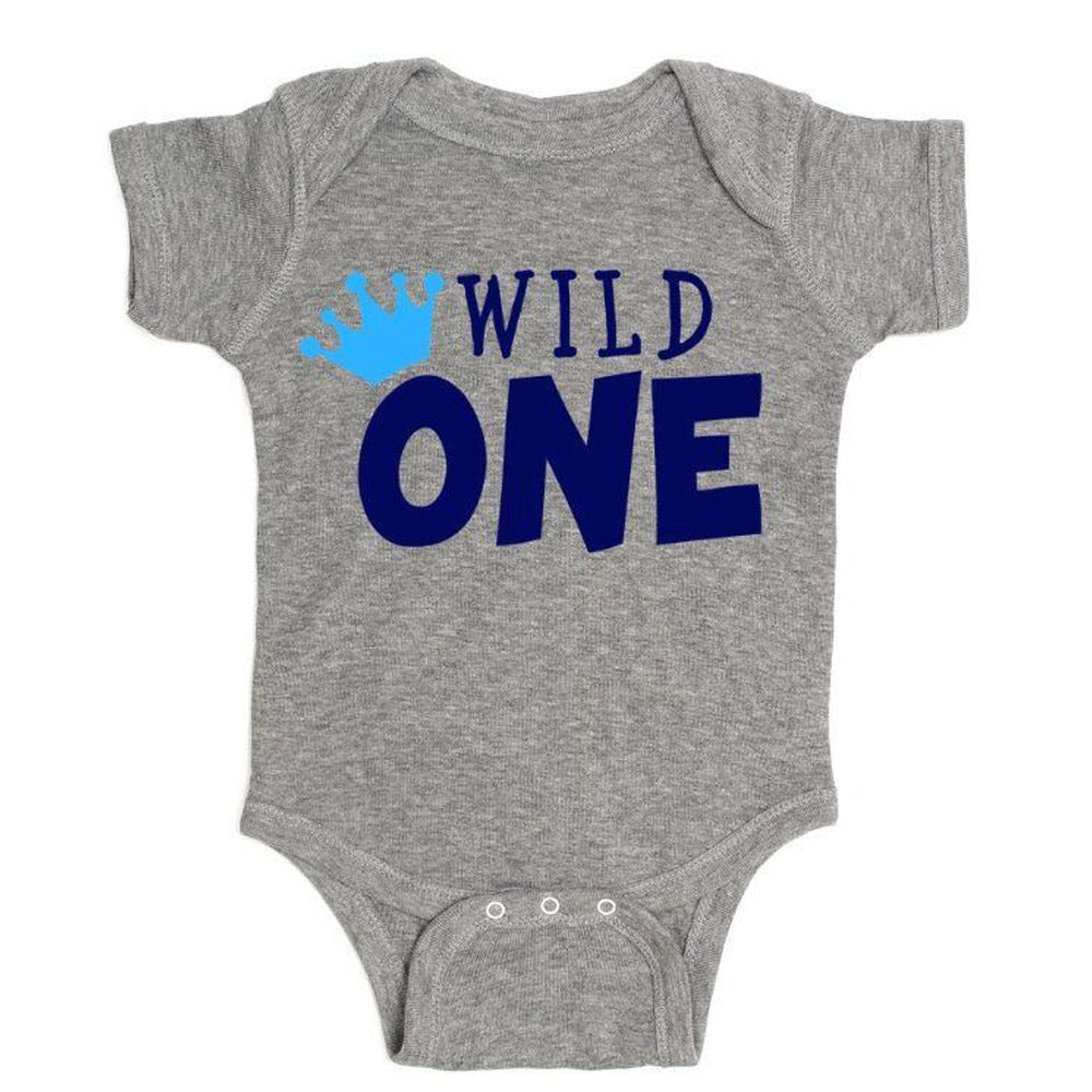 Wild One Gray Short Sleeve Body Suit