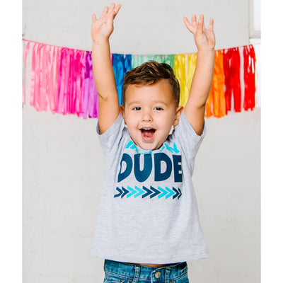 Birthday Dude Gray Short Sleeve Shirt