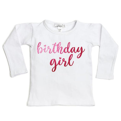 Birthday Girl White Long Sleeve Shirt