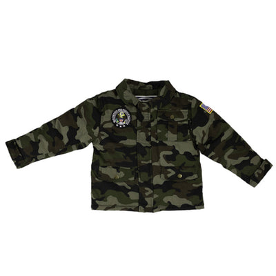 2-Patch Green Camouflage Jacket