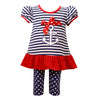Anchor Stripe Dress and Legging Set