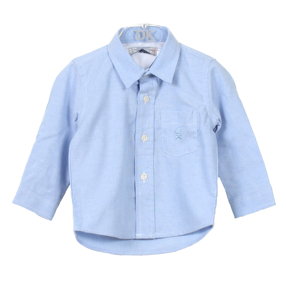Baby Boy's Blue Cotton Collared Shirt
