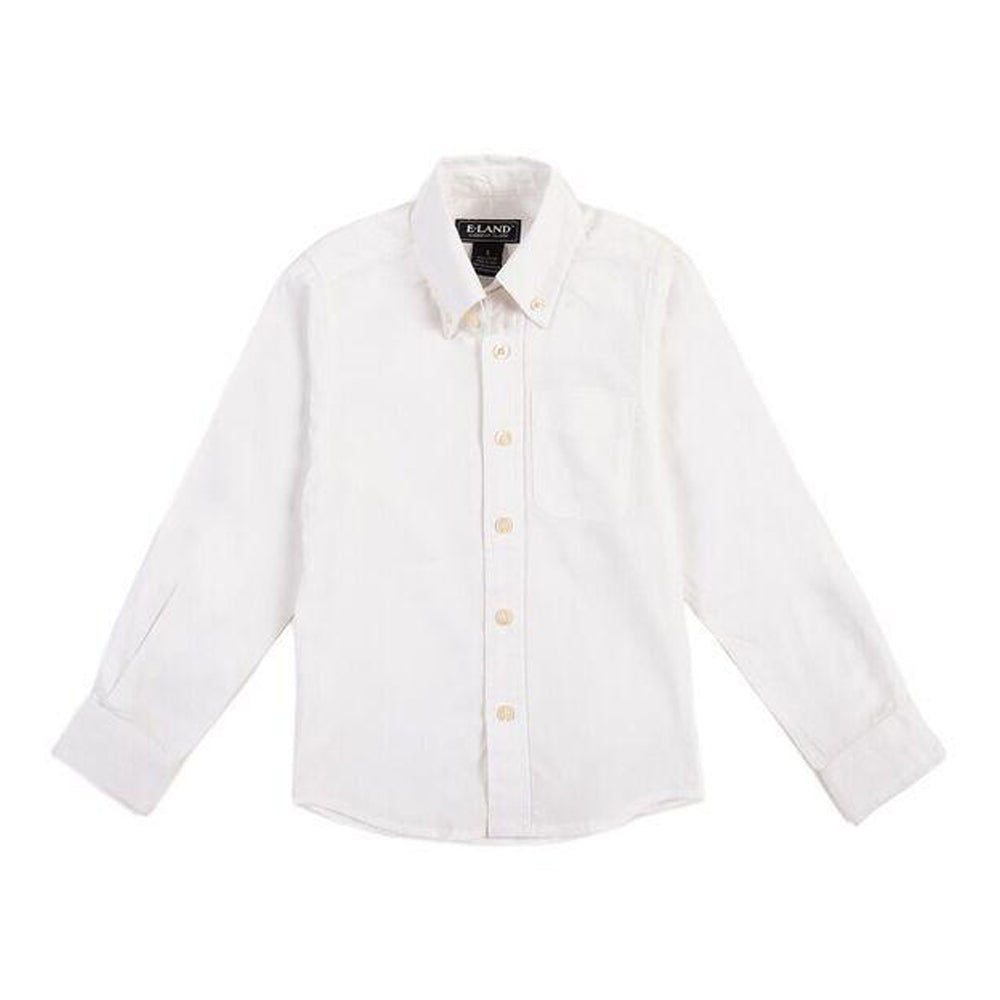 White Oxford Solid Button Down Shirt