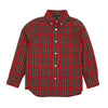 Boys Stewart Plaid Collared Shirt