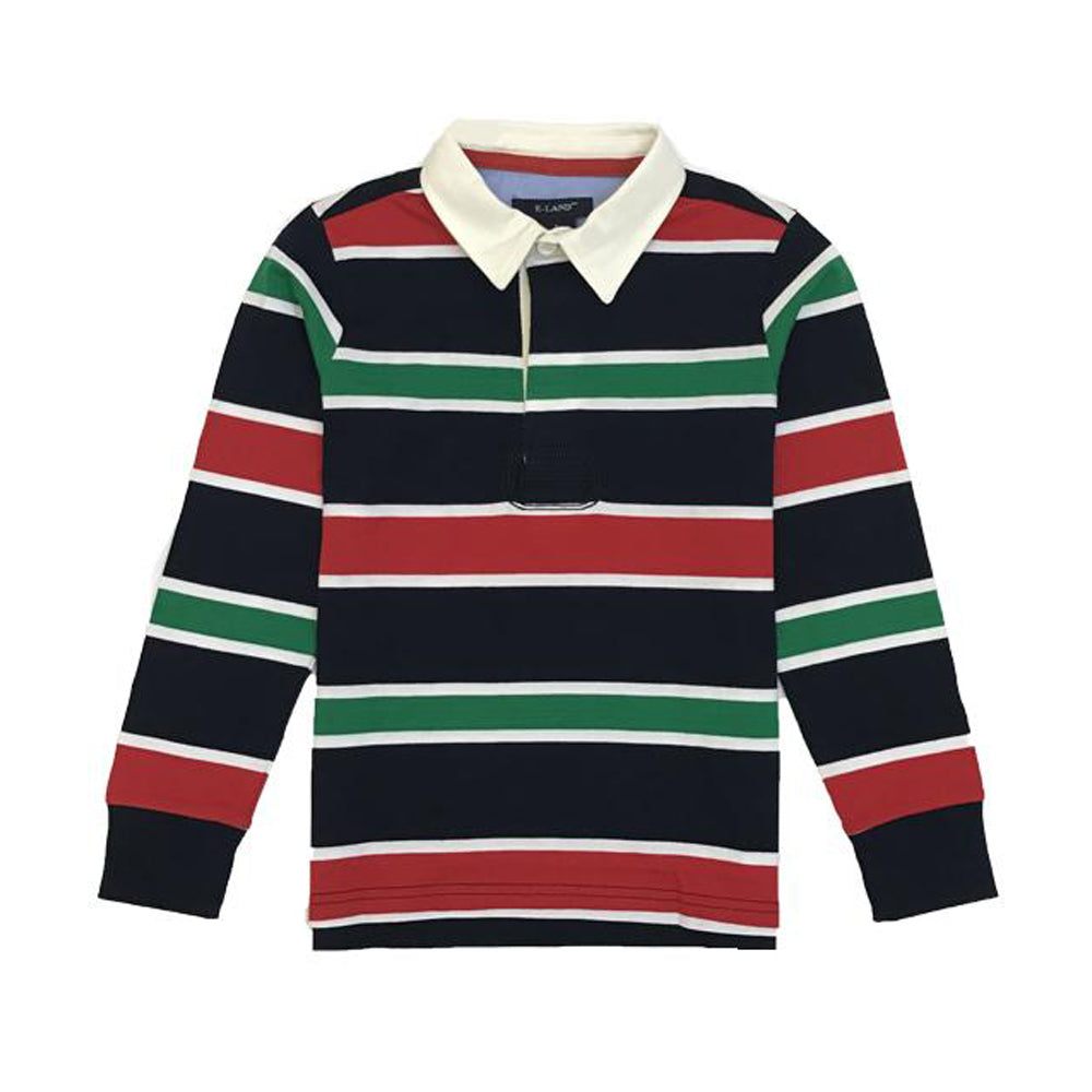 Holiday Striped Polo Shirt