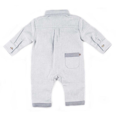 Boys Heather Gray Romper