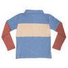 Boys Atlantic Blue Color block Polo Shirt