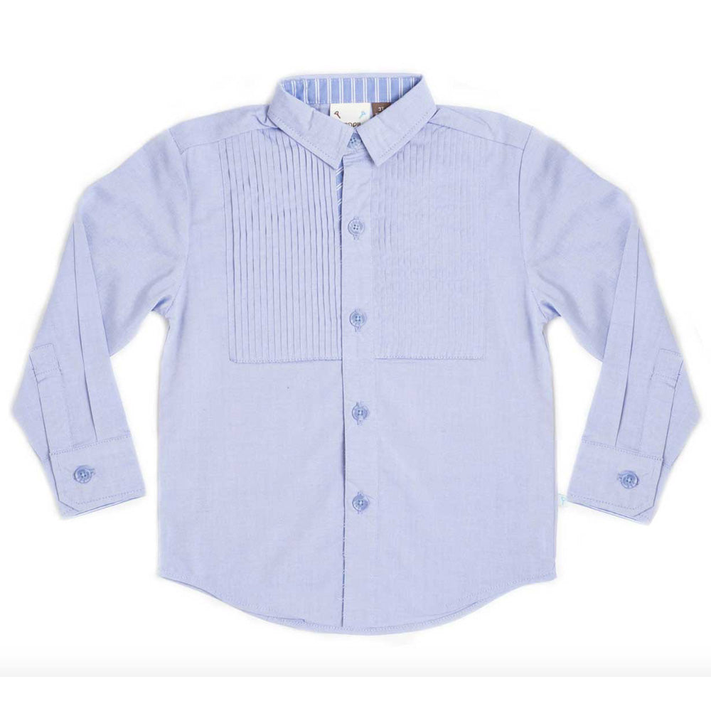 Boys Long Sleeve Blue Shirt