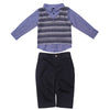 Striped Sweater Vest and Pant Set with Bowtie for Baby Boys