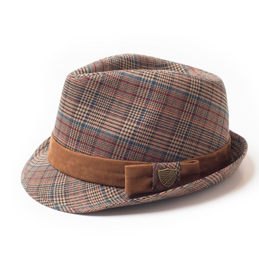 Boys Gentleman Plaid Fedora