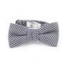 Grey Houndstooth Bow Tie