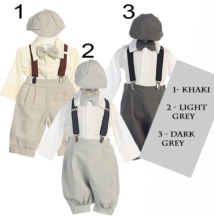Baby & Toddler Boy 5-pc Knicker Pant Set & Suspenders