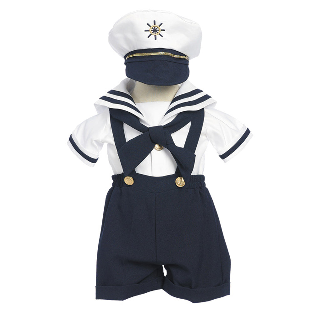 Boys Sailor Shortall Set with Hat