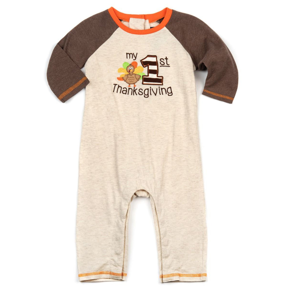 Baby Boys My First Thanksgiving Playsuit