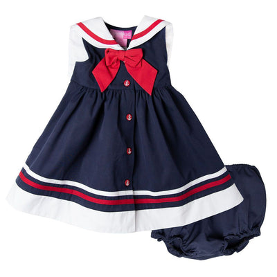 Navy Nautical Dress with Matching Panty