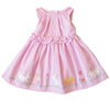 Baby and Little Girls Pink Seersucker Dress with Bunny Appliques