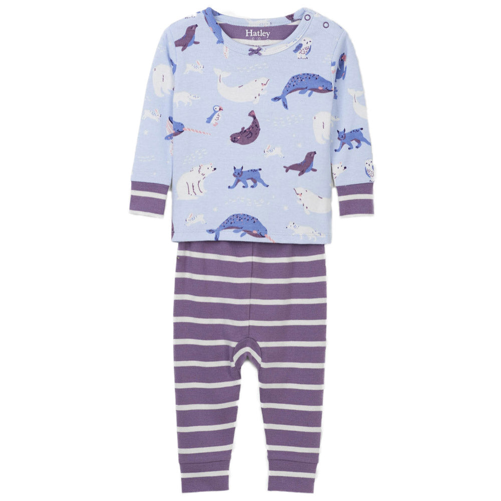 Polar Critters ORGANIC Cotton Baby Pajama Set