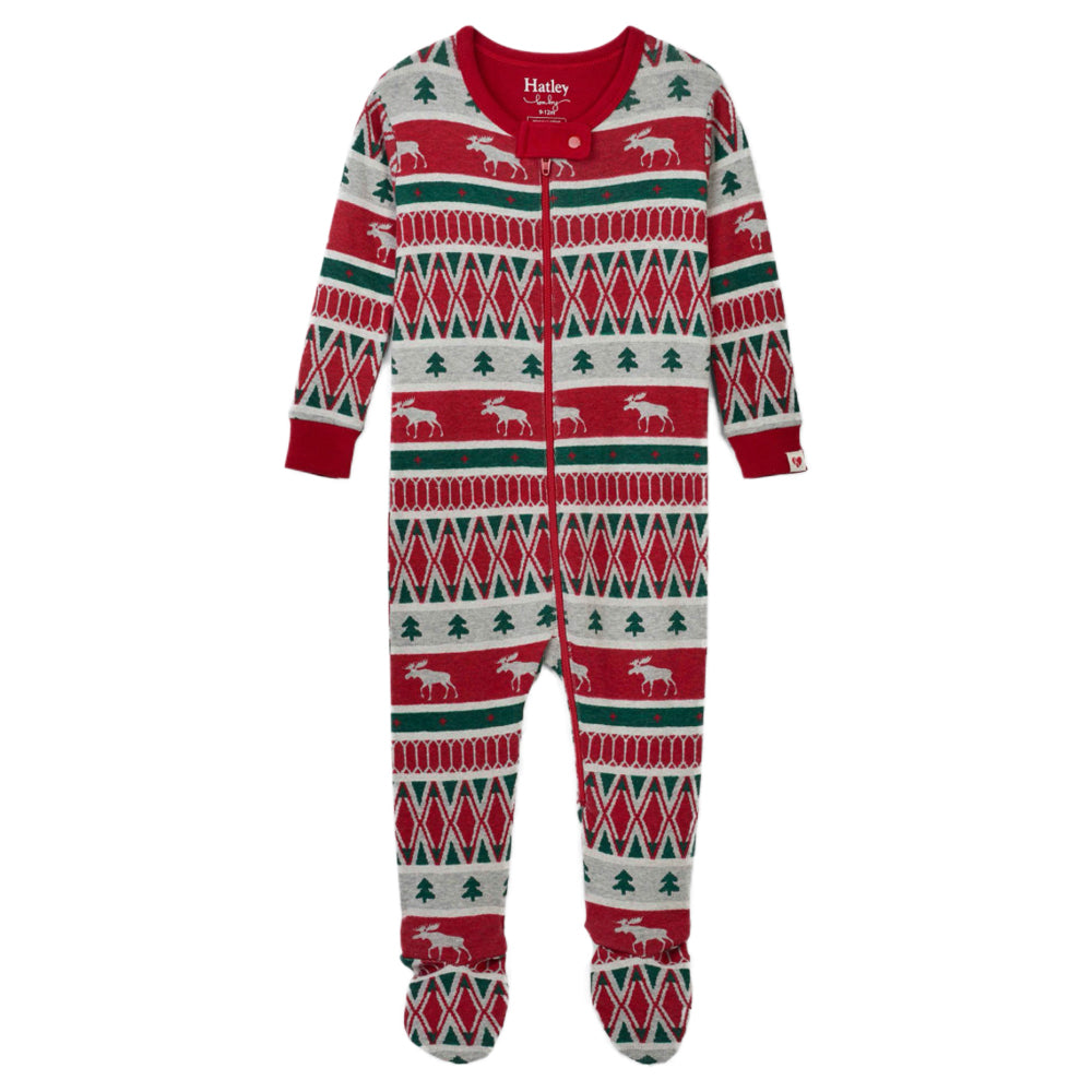 Festive Dinos ORGANIC Cotton Footed Coverall Pajama