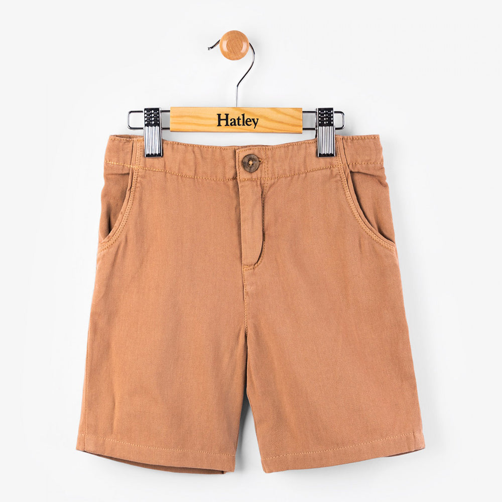 Coconut Brown Woven Shorts