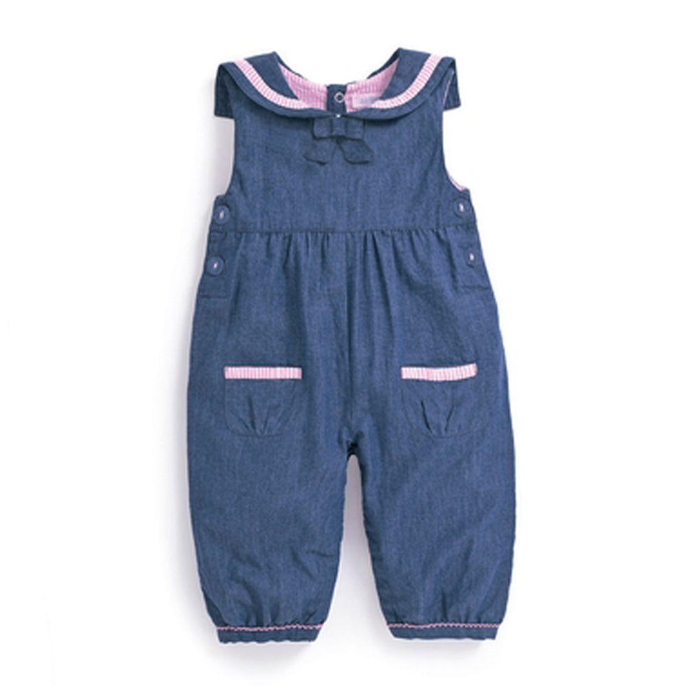 Chambray Sailor Baby Overalls