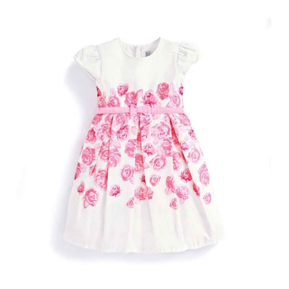Girls Pink Rose Party Dress