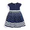 Girls' Navy Parisienne Party Dress