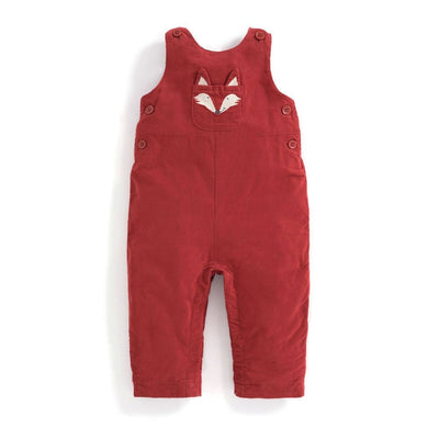 Fox Baby Cord Overalls