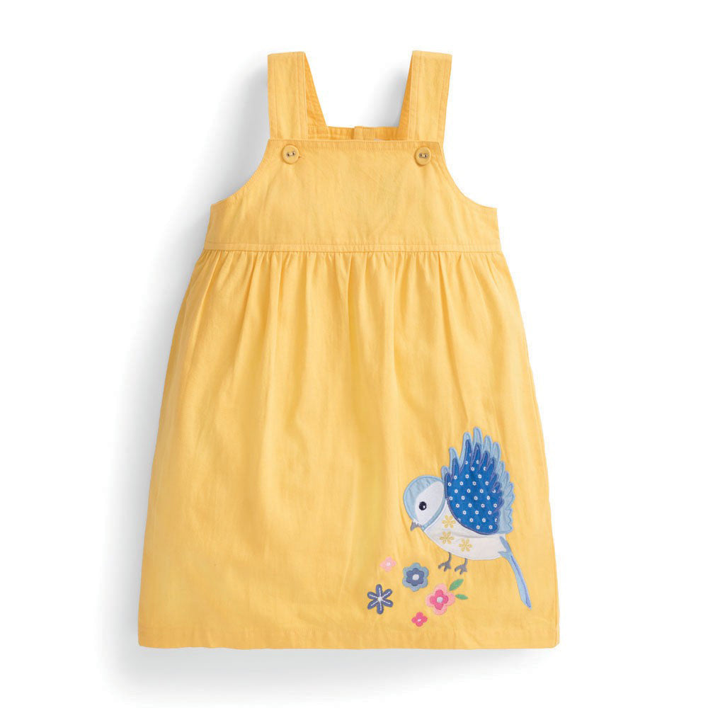 Lemon Bird Pinafore Dress