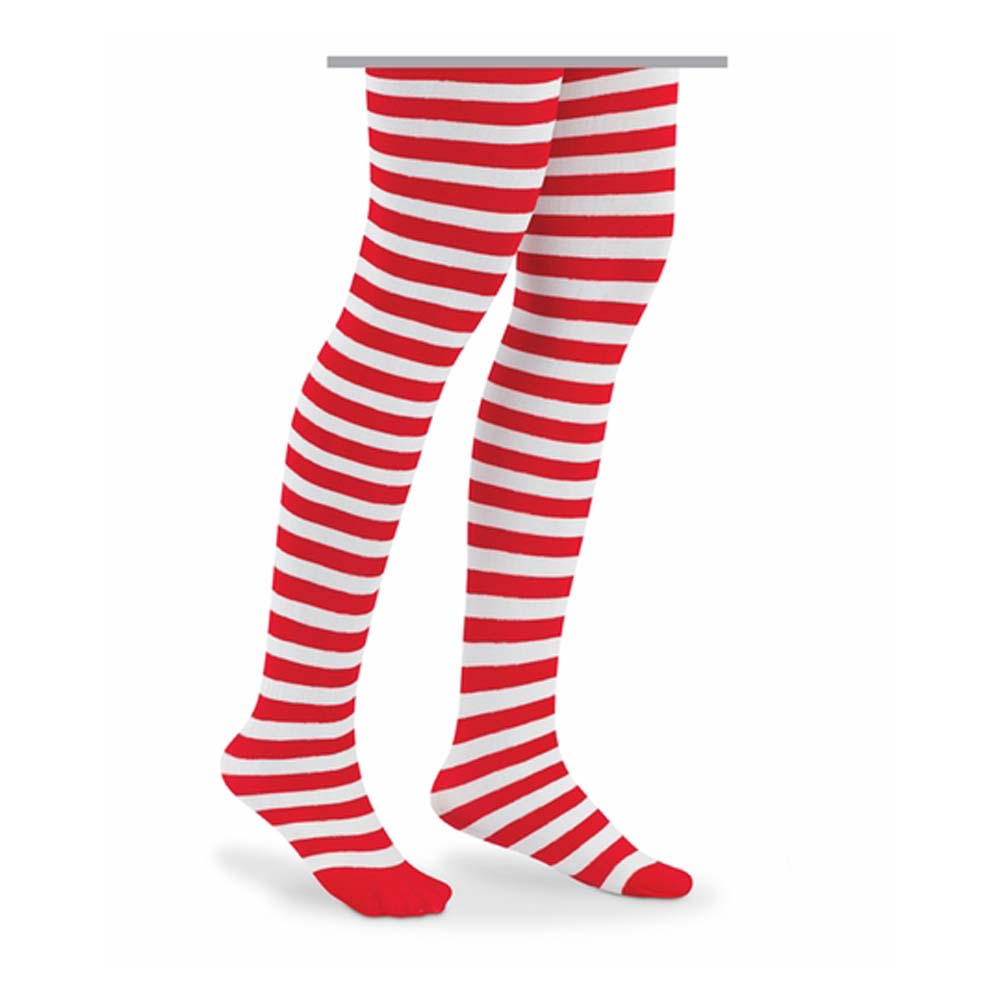 Candy Cane Holiday Striped Tights