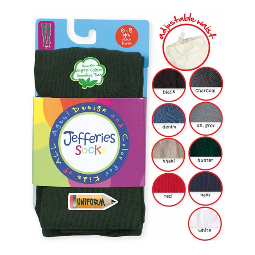 ORGANIC School Uniform Girls Heavyweight Cotton Tights
