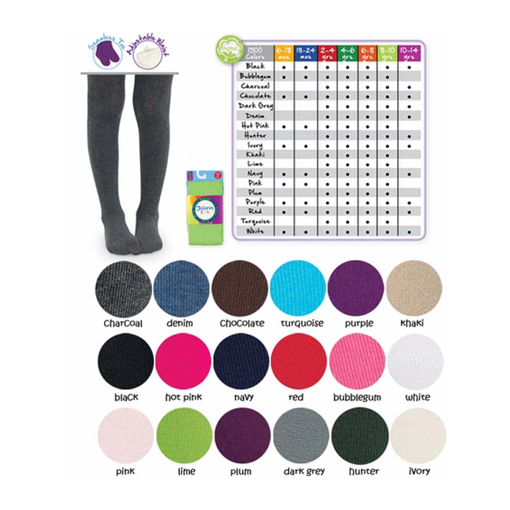 Girls Heavyweight ORGANIC Cotton Tights