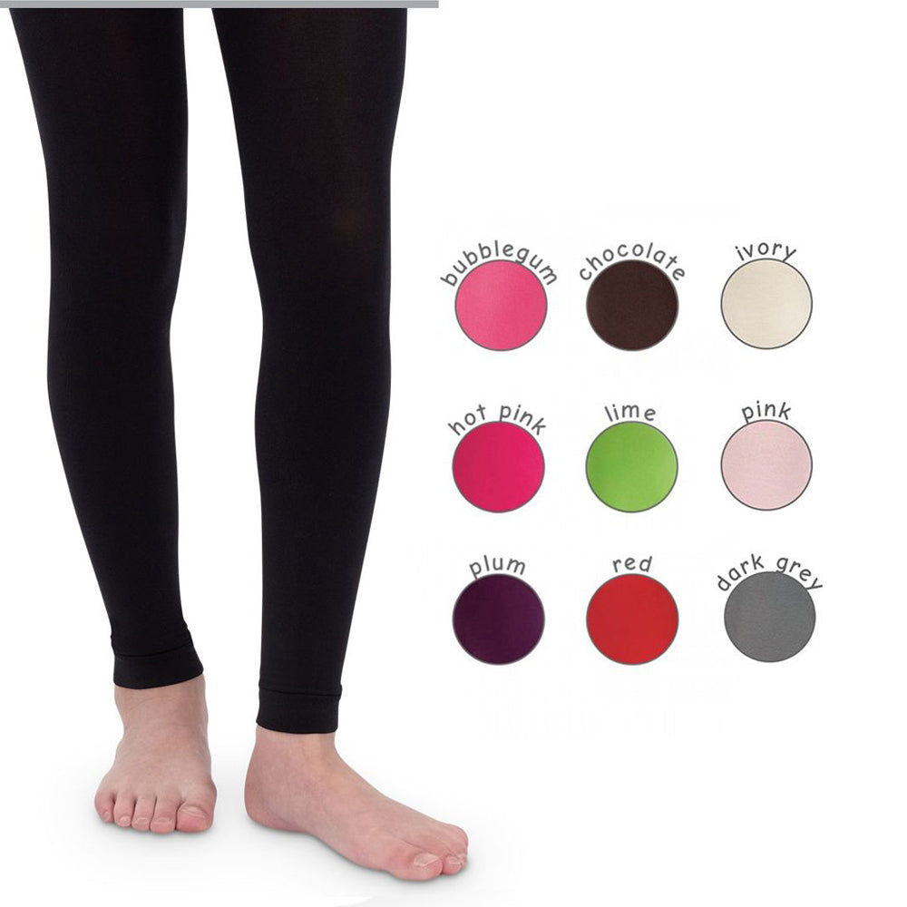 Toddler and Little Girls PIMA Cotton FOOTLESS Tights