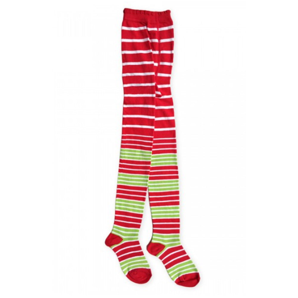 Girls Holiday Red/Green Stripe Tights