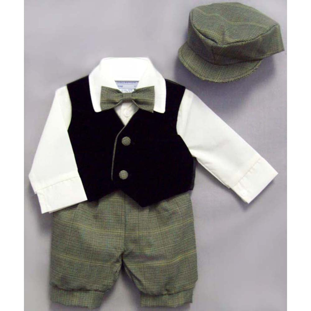 Alvin Boys 5 PC Vest and Plaid Knicker set