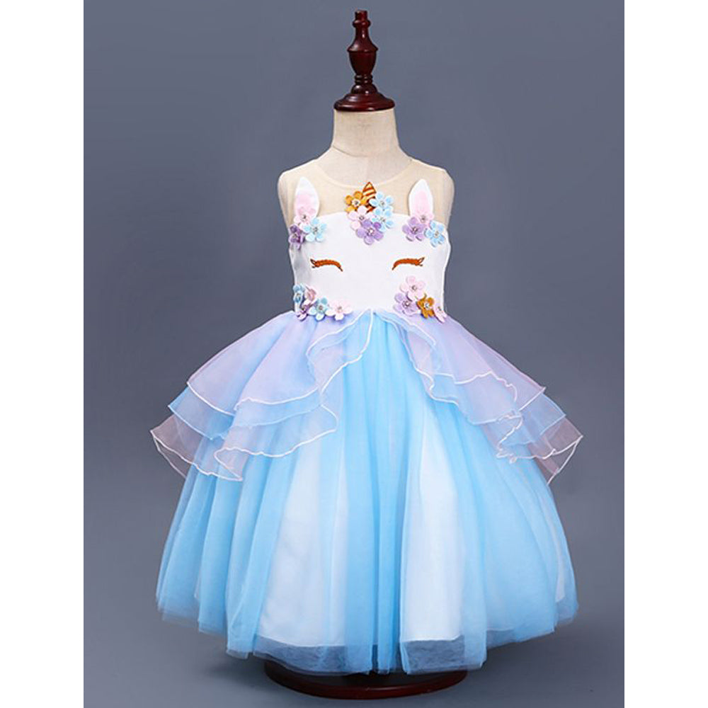 Unicorn Costume Birthday Dress in Pink or Blue