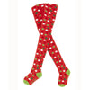 Holiday Dot Tights - Red with White and Green Dots