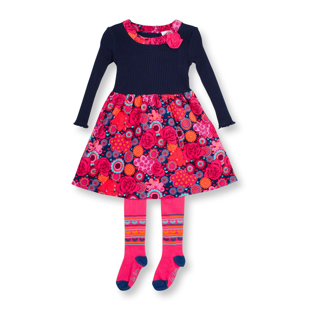 Kaleidoscope Corduroy Dress and Tights