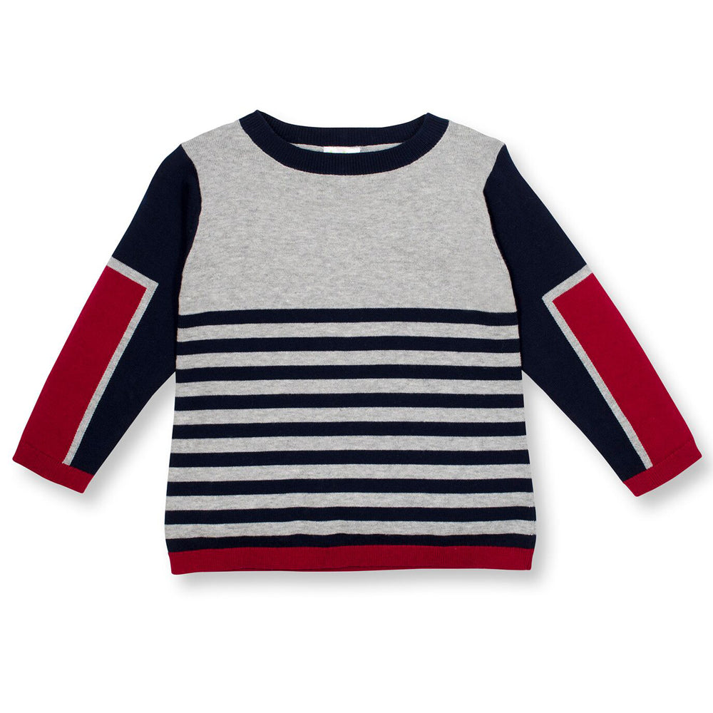 SOHO Striped & Solid Sweater for Boys