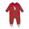 Baby Boys Reindeer Striped Waffle Weave Coverall