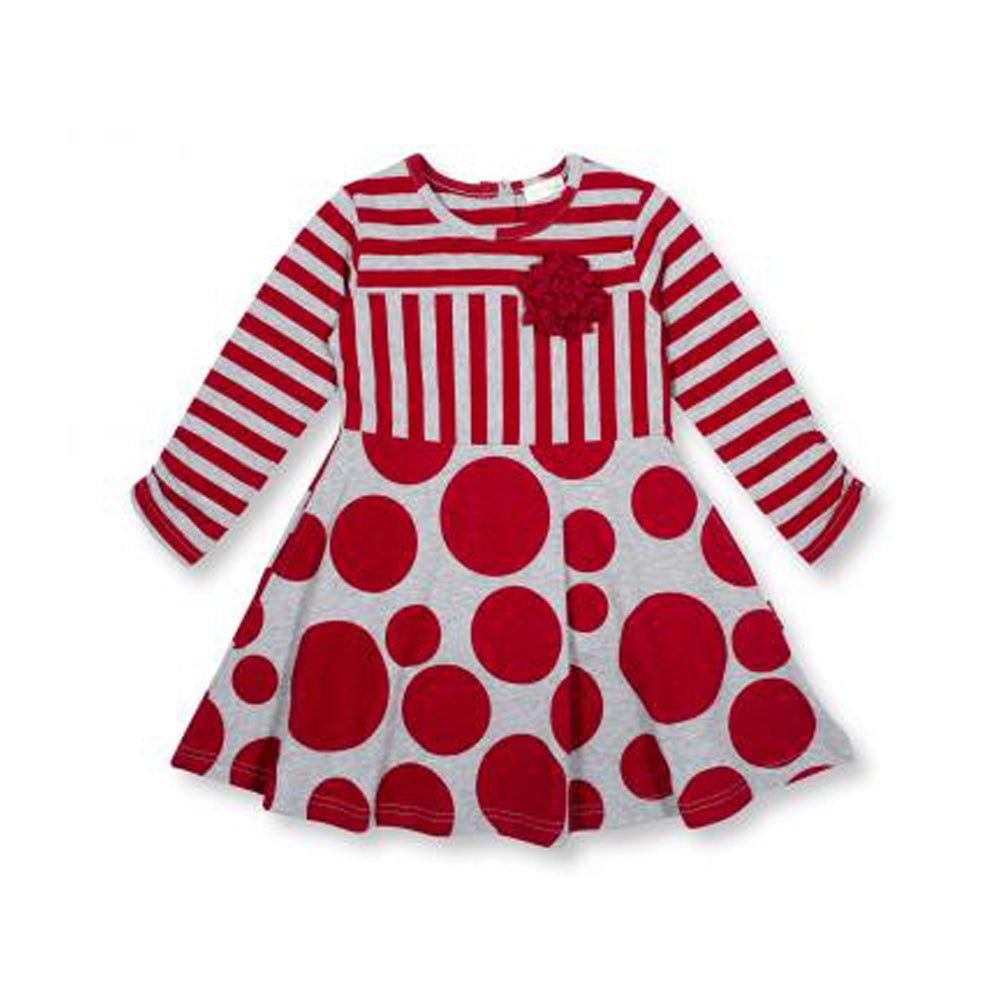 Little Girls XO! Polka Dot Party Dress