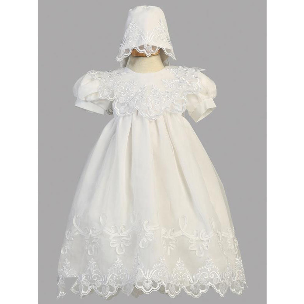 Baby Girls Embroidered Organza Gown