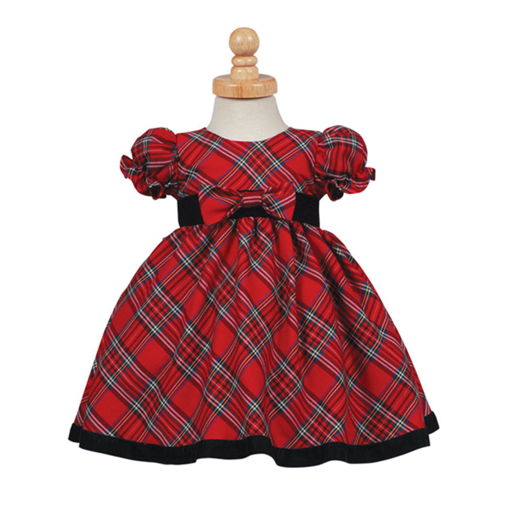 Classic Red Plaid Holiday Dress