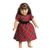 Red Plaid Holiday DOLL Dress