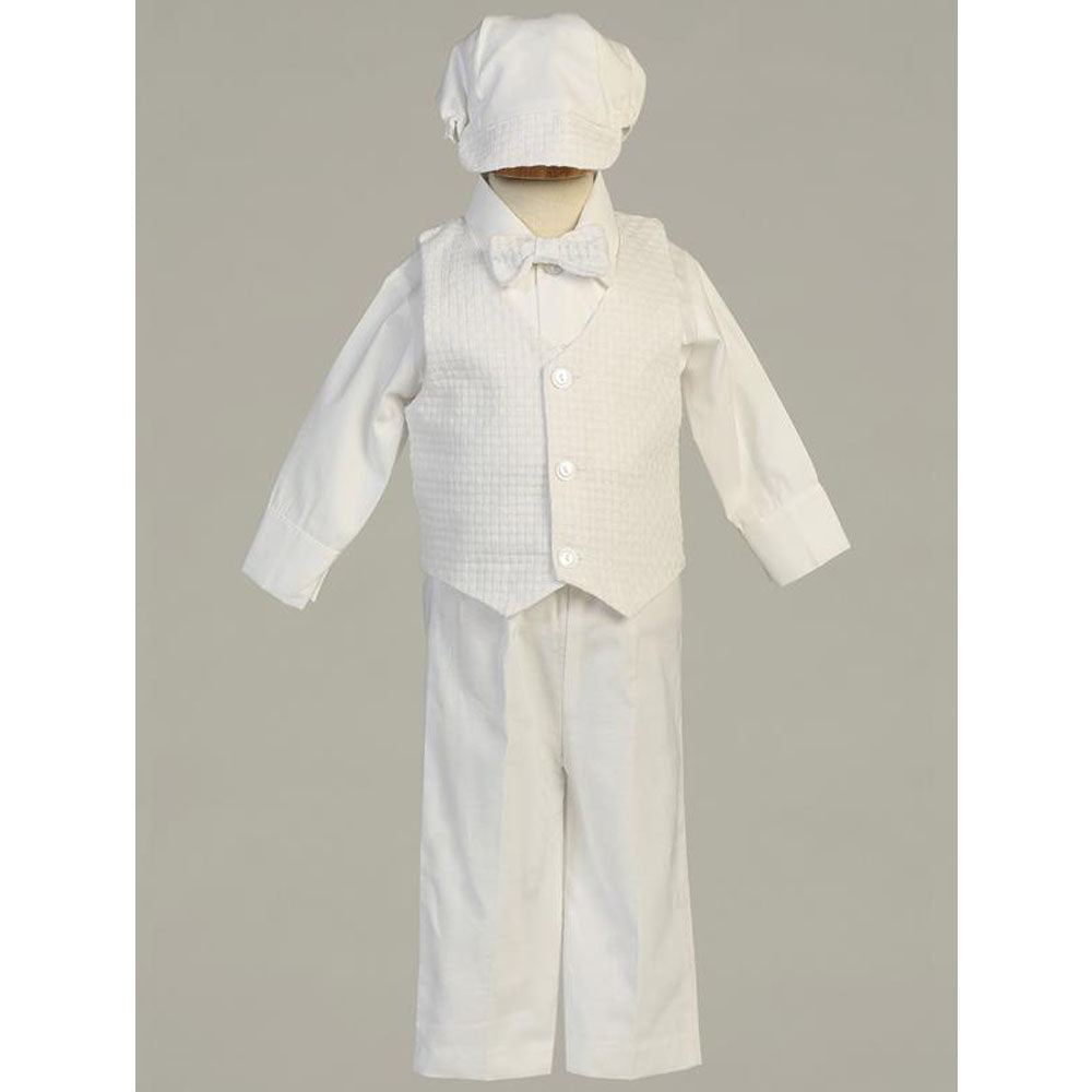 Baby Boys Nathan Cotton Weaved Vest and Pant Set