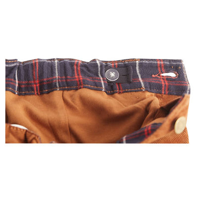 Corduroy Pants with Flannel Cuffs